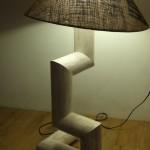 Lampe tube de carton - Hugues Frache