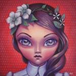 """""""Fleurs"""" acrylique sur toile - M'Line"""