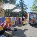 Fresque dans le quartier Route de nice
